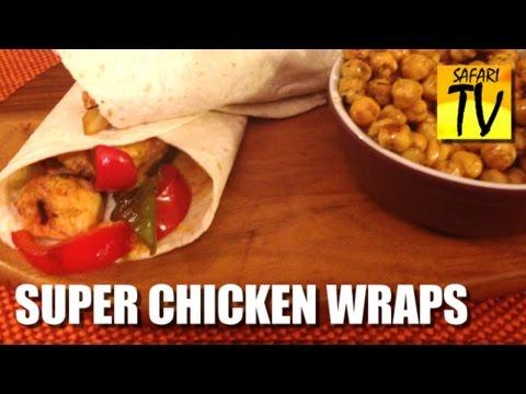 Chakalaka Chicken fajitas - Safari Sunshine Recipe - spicy wraps from africa