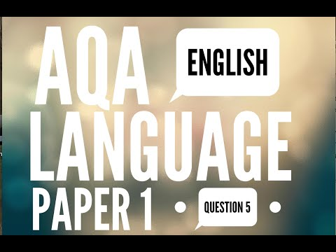 2017 AQA GCSE English Language Paper 1 Question 5: Descriptive