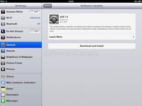 How To Update your iPad and iPad Mini to IOS 7