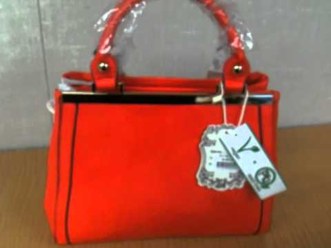 New Alyssa Classic Coral Vegan Leather Handbag with Double Zipper and Strap