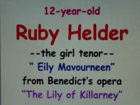 tenor RUBY HELDER 18-yr-old GIRL sounds like a man