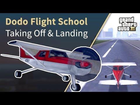 GTA 3 - Dodo Flight School (Taking Off - Landing - Steering)