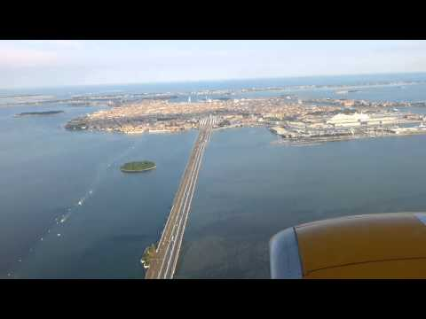 Landing at Venice Airport 19:45 Hours seat no. 7 Jet Time ( Jet 2 replacement plane )