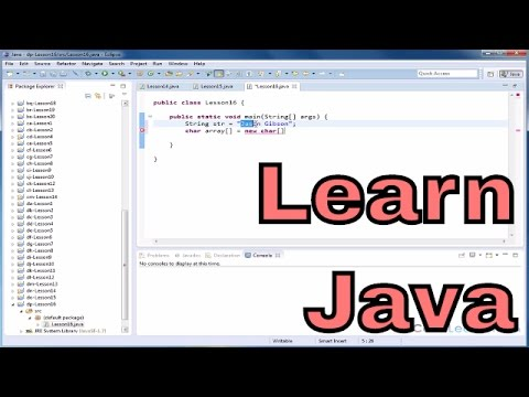 Lesson 16 - Learn Java - Read Characters From A String Into A Char Array