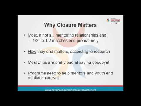 Ending on a High Note: Effective Closure of Mentoring Relationship