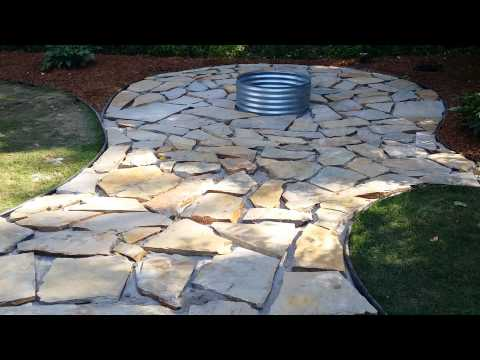 Fire pit / flagstone patio and landscaping almost done