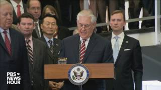 Watch Sec. Tillerson speak for first time at State Department