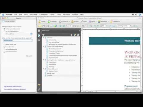 Hyperlinks, Searching, Help Tools, Adobe, Acrobat Reader, Tutorials