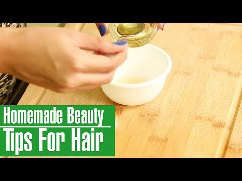 3 Easy & Simple HOMEMADE BEAUTY TIPS FOR HAIR