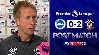 """I'm proud of my team"" | Graham Potter Post Match | Brighton 0-2 Southampton"