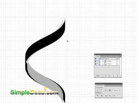 Vector spiral staircase graphic illustrator cs4
