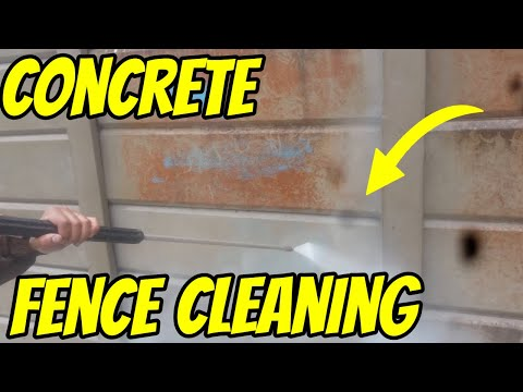 Concrete Fence Panel Cleaning