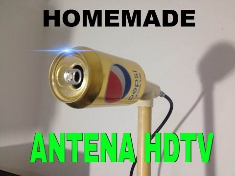 HOW TO MAKE HOMEMADE HD ANTENNA,WITH CAN OF PEPSI. *plazacamacho*
