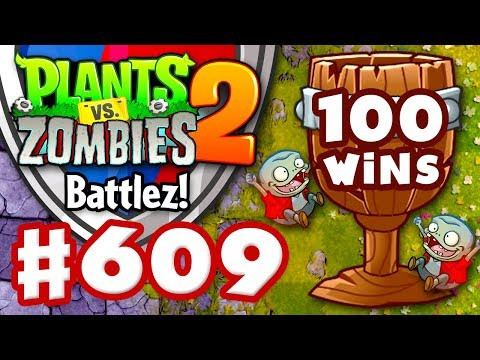 BATTLEZ! 100 Wins! Wood League! - Plants vs. Zombies 2 - Gameplay Walkthrough Part 609