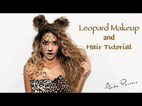 Leopard Halloween Makeup and Hair Tutorial | ARIBA PERVAIZ