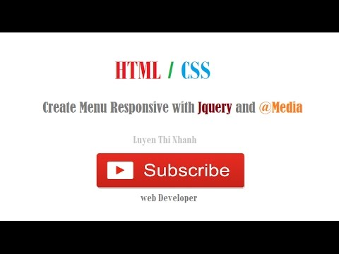 Create Menu Responsive with Jquery and @Media (HTML/CSS)
