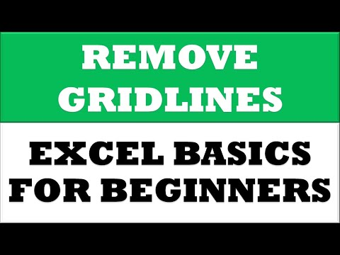 How to Remove Grid Lines for Current Worksheet in MS Excel 2016