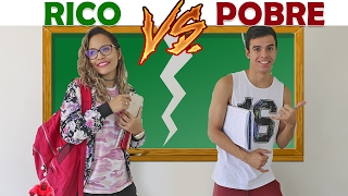 RICO VS POBRE NA ESCOLA! - KIDS FUN