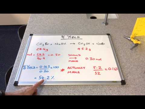 Percentage Yield and Limiting Reagent