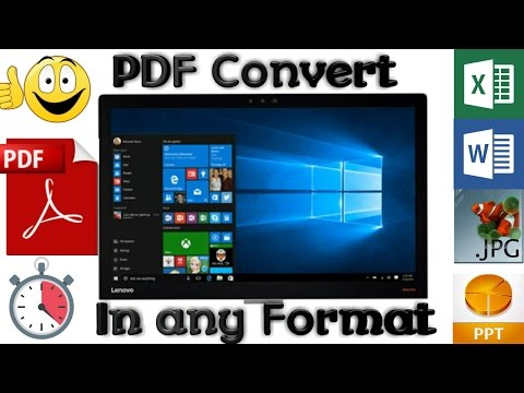 (Easily) How To Convert PFD to Any Document [DOC, XLS, PPT, HTML, Word, TXT format and more