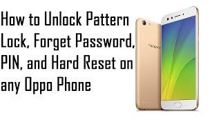 OPPO F5 CPH1723 & CPH1725 Remove lock screen pattern lock