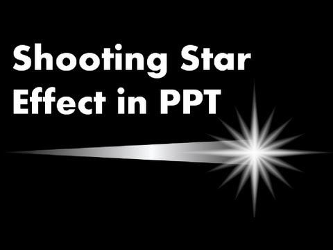 Advanced PowerPoint Animation Tutorial - How to Make a Shooting Star Effect