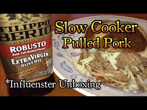 Influesnter Unboxing Filippo Berio Slow Cooker Pulled Pork Recipe Free Products
