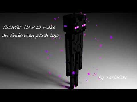 Tutorial: How to make an Enderman plush toy (Minecraft)