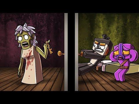 Minecraft Granny - EVIL GRANDMOTHER LOCKS US AWAY! (Granny Horror Game)