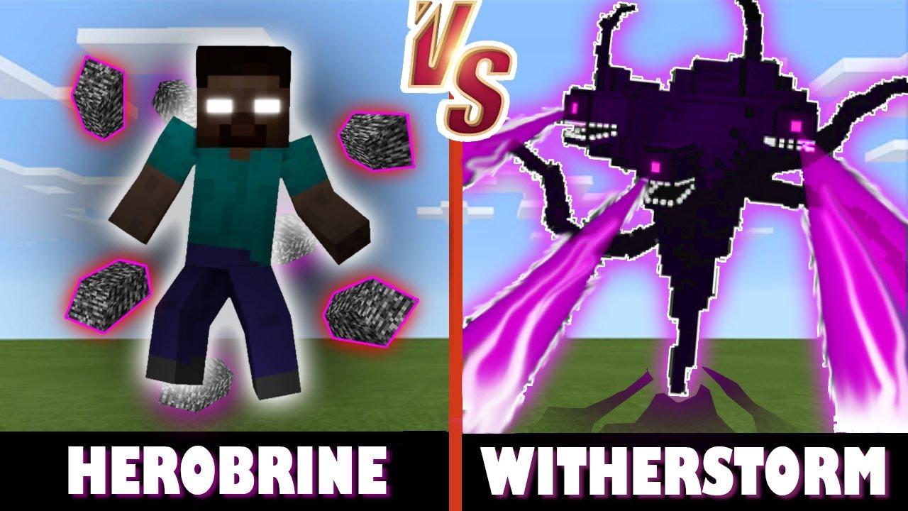 Herobrine vs. Wither Storm   Minecraft (MESSY BATTLE!)