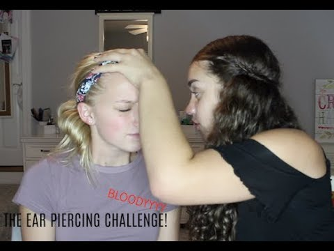 THE EAR PIERCING CHALLENGE!!