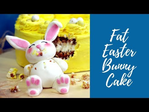 HOW TO MAKE FAT EASTER BUNNY CAKE