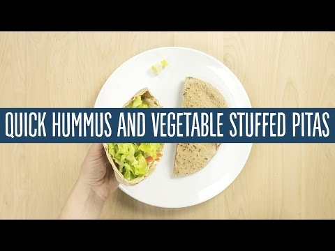 Quick Hummus and Vegetable Stuffed Pitas | Recipes | 365 by Whole Foods Market