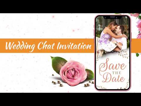 Wedding Invitations | Wedding Chat Invitation