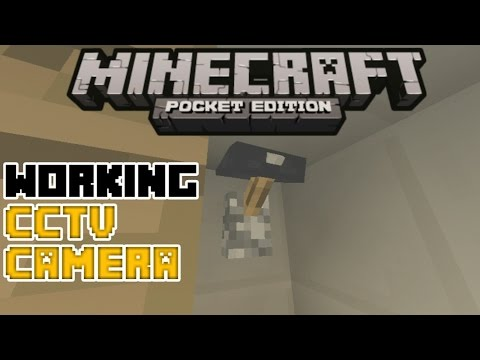 Minecraft PE | How To Make a Working Security Camera! | Command Block creation