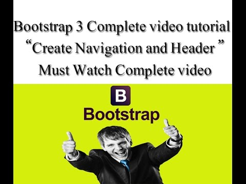 Bootstrap 3 part 6 tutorial Create your navigation & header responsive website Urdu & Hindi tutorial