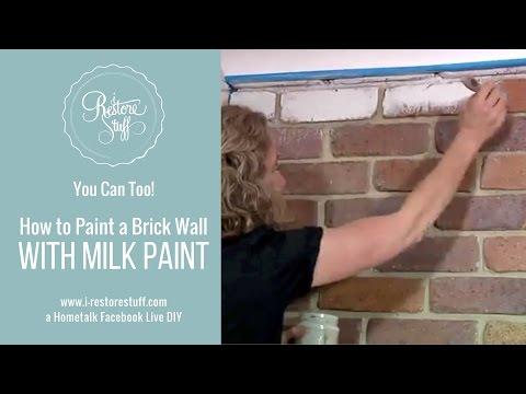 Hometalk Live - Brick Wall Transformation with Milk Paint