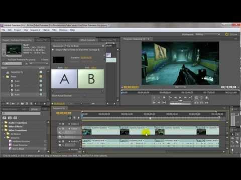 Adobe Premiere Pro #4 - Cutting Video & Adding Transitions