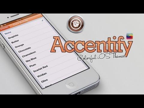 Accentify - Colorful iOS UI Themes Cydia Tweak iPhone & iPad