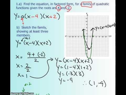 1.6 - Determine a Quadratic Equation Given Its Roots