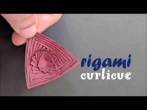 Origami Curlicue - How to make Origami Curlicue