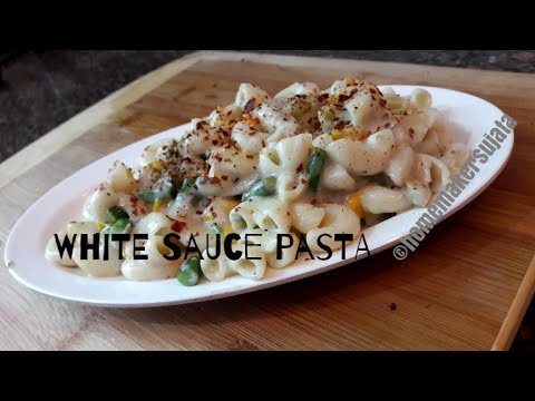 White Sauce Pasta (without cheese) |How To Make macaroni (pasta) in white sauce |चीज़ वाइटसॉस पास्ता