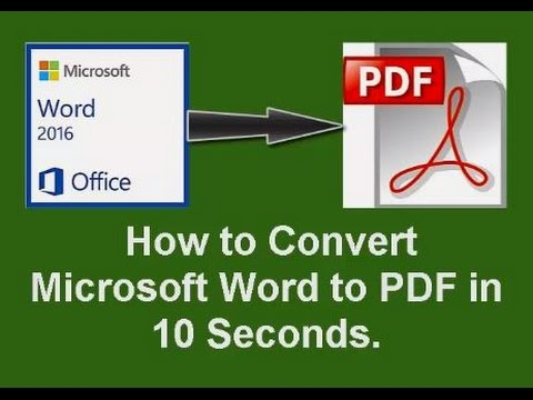 How to Convert a Word to PDF in 10 Seconds