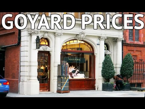 GOYARD PRICES REVEALED IN LONDON!
