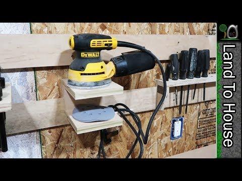 Sander French Cleat Storage - Build a Workshop #48