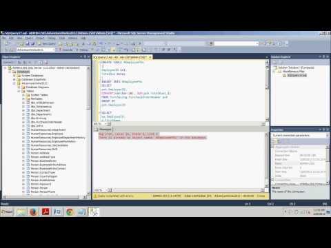 SQL Server tutorial 51: Temporary Tables