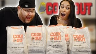 WE ORDER THE ENTIRE MENU 🍔COOKOUT