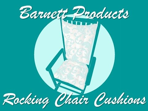 Rocking Chair Cushion Set by Barnett Products - How to Measure for Make to Order Cushions