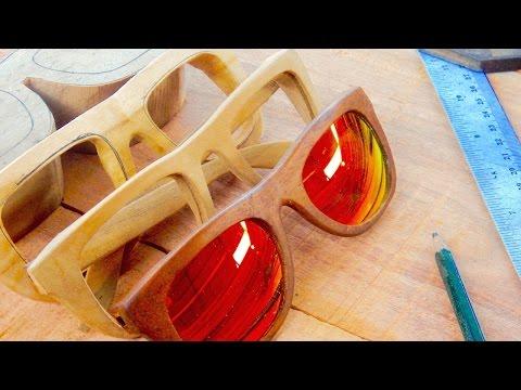 Handmade wooden sunglasses production in Bali    JIVANA