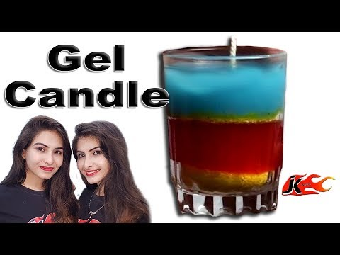 How to make Layered  Gel Candles in Cute Small Glass |  JK Arts 487